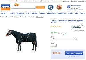CATAGO Pferdedecke mit Halsteil Abschwitzdecke
