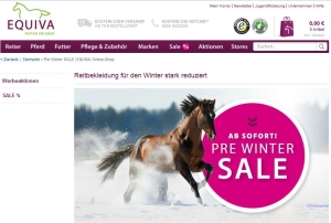 Pre Winter Sale bei Equiva
