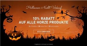 Halloween-Nachtverkauf bei horze 10 Prozent Rabatt
