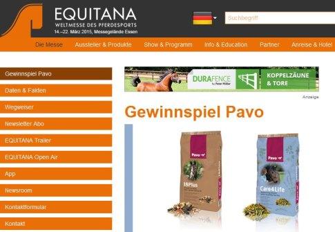 EQUITANA-Gewinnspiel PAVO Pferdefutter