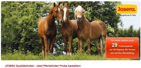 pferdefutter proben gratis kostenlos