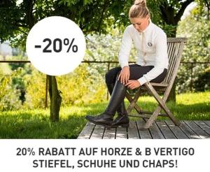 20 Prozent Rabatt auf Reitstiefel Schuhe Chaps