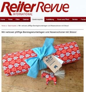 Reiter Revue NN Horse Design Bandagierunterlagen gewinnen