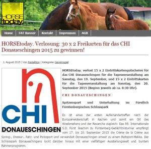 Horse today Gewinnspiel CHI Donaueschingen