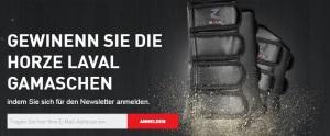 Horze Newsletter Gewinnspiel August September Laval Gamaschen