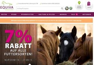 7 Prozent Rabatt auf alle Pferde Futtersorten EQUIVA