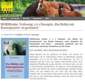 Horse today Gewinnspiel Ein Hobby mit Konsequenzen