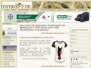 Tovero Gewinnspiel T-Shirt Avara September