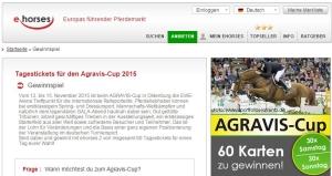 ehorses Gewinnspiel Agravis Cup 2015