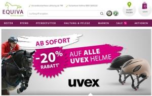 EQUIVA 20 Prozent Rabatt auf UVEX Reithelme