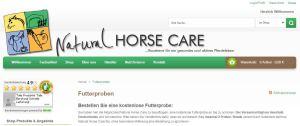 Natural Horse Care gratis Futterproben