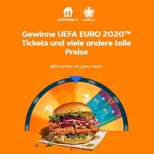 Lieferando EM Gewinnspiel 2021 Euro 2020 Tickets zu gewinnen
