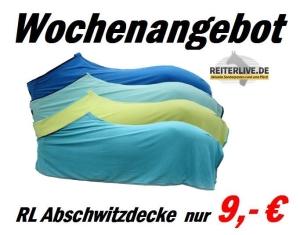 Wochenangebot RL Abschwitzdecke Reiterlive 9 Euro