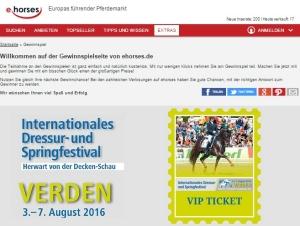 ehorses Gewinnspiel Internationales Dressur- und Springfestival Verden
