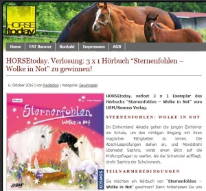 HORSEtoday. Verlosung Sternenfohlen Wolke in Not