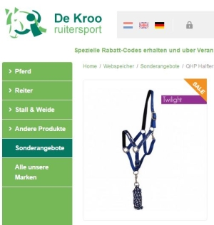 Halfter-Set mit Führstrick De Kroo