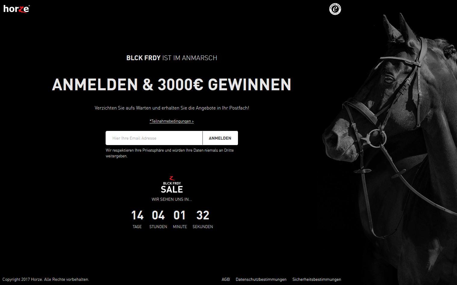 Horze black friday gutschein zu gewinnen reiter pferde deals - 3 suisses black friday ...