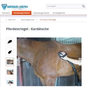 Pferdestriegel Kardätsche Staubsaugeraufsatz von Wessel-Werk