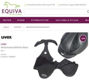 uvex Winterhaube schwarz im Sale