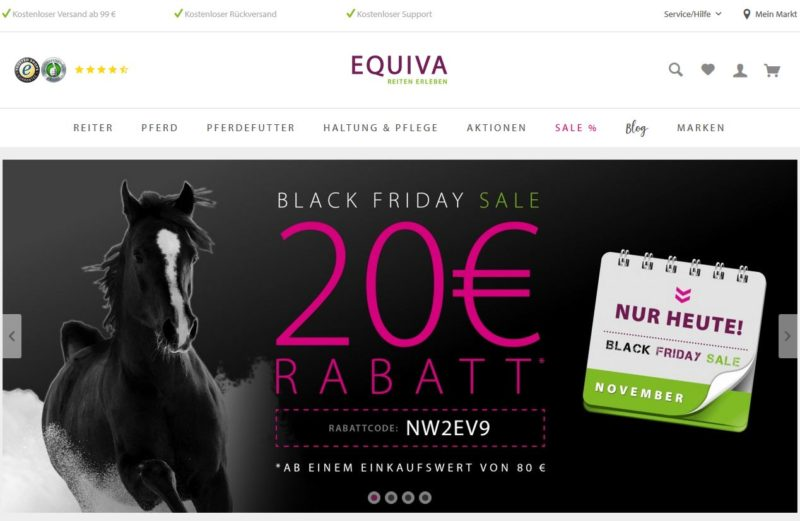BLACK FRIDAY Rabattcode EQUIVA 20 Euro
