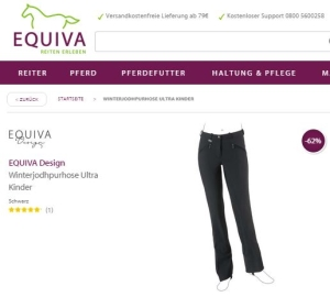 EQUIVA Design Winter Reithose