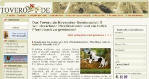 Tovero Gewinnspiel - Kalender und Pferdebuch zu gewinnen