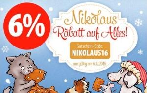 6 % Nikolaus Rabatt bei zooplus