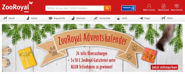 ZooRoyal Adventskalender 2016