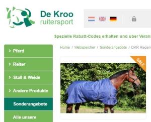 blaue Regendecke 200 g für Pferde