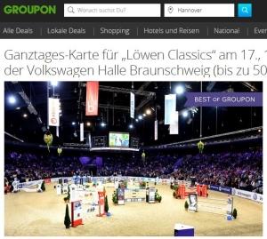 Groupon Deal Löwen Classics Reitturnier Braunschweig