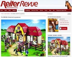 Großer Reiterhof von Playmobil im Reiter Revue Gewinnspiel