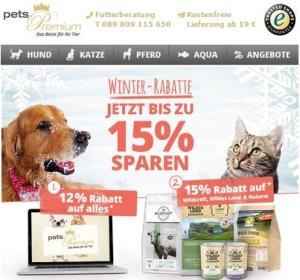 pets Premium Winter Rabatt Gutschein