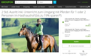 Groupon Ausritt beim Hasthaushof in Ratingen
