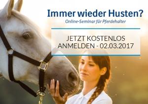 """Online-Seminar """"Immer wieder Husten"""" für Pferdehalter"""