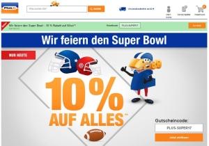 10 % Plus.de Gutschein Super Bowl 2017