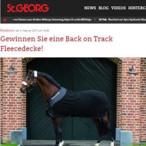 Back on Track Pferdedecke bei St. GEORG zu gewinnen