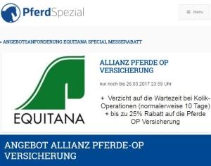 Allianz Pferde OP-Versicherung Messerabatt