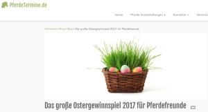 Ostergewinnspiel 2017 PferdeTermine