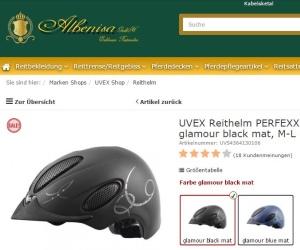 Uvex Reithelm Perfexxion Glamour VG 1 schwarz und blau