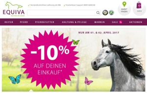 10 % EQUIVA Rabattcode am 1. und 2. April 2017