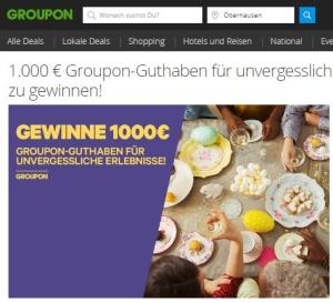 Groupon Gutschein 1.000 Euro zu gewinnen