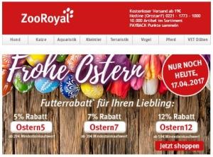 ZooRoyal Gutscheincodes zu Ostern 2017