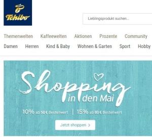 Tchibo Shopping in den Mai Gutscheincode - Bis 15 % Rabatt