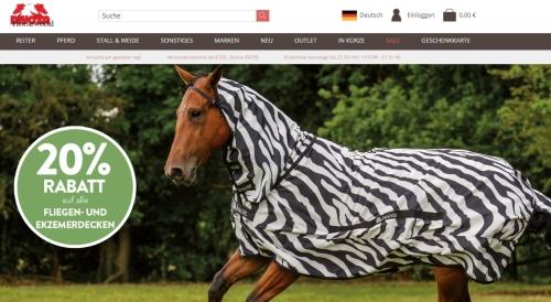 20 % Rabatt auf Fliegen- und Ekzemerdecken für Pferde