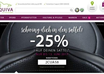 EQUIVA Gutscheincode: 25 % Rabatt auf deinen Sattel