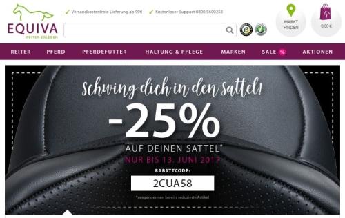 Schwing dich in den Sattel - 25 % Rabatt auf deinen Sattel bei EQUIVA