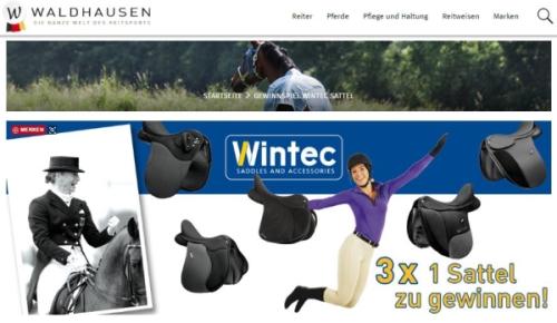 Waldhausen Gewinnspiel 3x 1 Wintec Sattel zu gewinnen