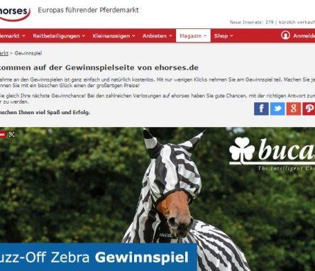 ehorses verlost Buzz-Off Zebra Set von Bucas