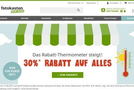 Fotokasten Gutscheincode: 30 % Rabatt-Thermometer