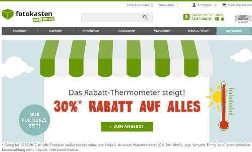 fotokasten 30 % Rabatt Gutschein